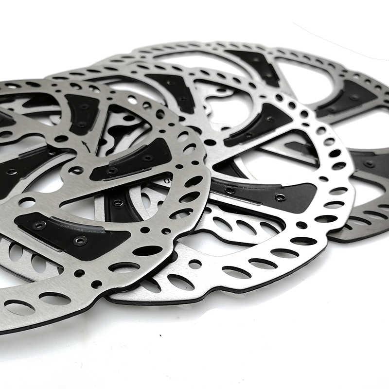 Haute qualité vtt route vélo disque frein 140mm 160mm 180mm rayonnant 6 boulons vélo disque Rotor avec boulons vélo accessoires