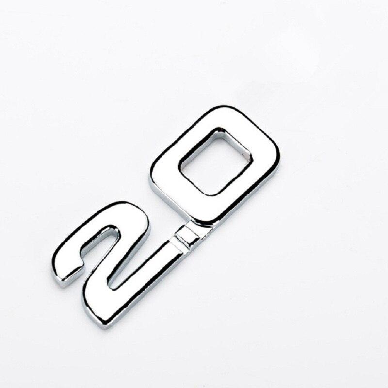 Хит продаж, 1 шт., автомобильная наклейка, 3D ABS 2,0 3,0, эмблема, автомобильный Стайлинг, наклейка для renault, toyota, bmw, ford focus 2, забавная наклейка для ав...