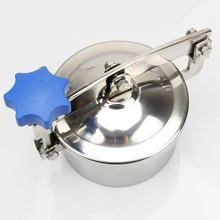 SS304 Stainless Steel Normal Pressure Manhole Cover Sanitary Quick-Opening Manhole Door Welding Round Flanging Hand Hole Yab