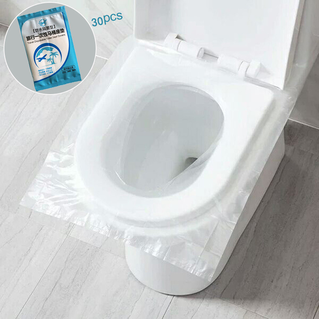 30pcs Disposable Toilet Paper Hotels Universal Toilet Sticker Seat Cover Business Travel Stool Set Health Safety Protective #25(China)