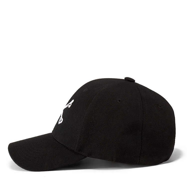 العظام المطرزة قبعة أزياء الشارع قبعة بيسبول الرجال النساء السود الهيب هوب