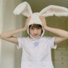 Mignon fille chapeau en peluche lapin oreilles de lapin chapeau oreillette casquette tête plus chaude coiffe de tête