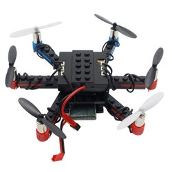 L333 Remote Control Toy Aircraft DIY Airplane Building Blocks 2.4Ghz Remote Control Quadcopter Assembled Six-Axis Drone