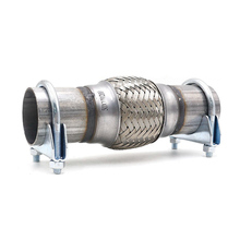 1 piece universal 50*100*200 mm exhaust hose elbow welded stainless steel tail double braided corrugated 248 цена