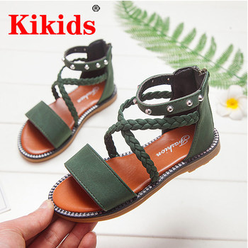 Kid Shoes Leather Girls kids Summer Baby Sandals Skidproof Toddlers Infant Children Kids Beige Sa