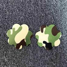 1 Pair Women Sexy Nipple Stickers Covers With Flower Star Shape Nipple Stickers Pasties Sex Product Chest Covers Army Green(China)