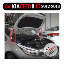Choque do apoio do elevador para kia ceed cee jd d ii jd 2012-2018 absorvente amortecedor de fibra de carbono bonnet modificar suportes de gás