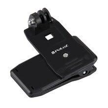 Puluz girar mochila clipe braçadeira de montagem para gopro hero 1 2 3 3 + 4 xiaoyi sjcam sj4000 sj5000 sj6000 esportes acessórios da câmera