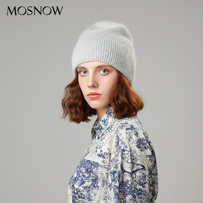 Knitted Beanies Hat Winter Women's Caps Warm Skullies Beanies 2019 High Quality Hats For Female Rabbit Hair Cap Ladies Bonnet