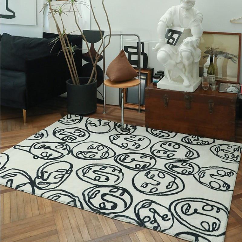 Cheeks Crowd of People Post modern pattern  art living room rug   big size Nordic style home decoration  bedside carpet|Carpet| |  - title=