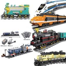Ciudad KAZI-tren con función de potencia de alta tecnología, bloques de construcción de ladrillos, MOC tech, juguetes compatibles con todas las marcas, juguete para niños, regalo