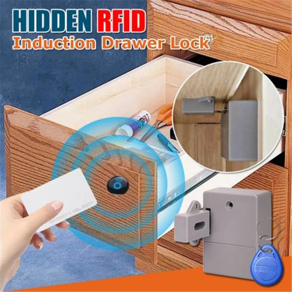 Smart Sensor Cabinet Lock Adhesive Hidden Drawer Lock Shoe Cabinet Wardrobe Bathroom Inductive Digital Single-opening Door Lock