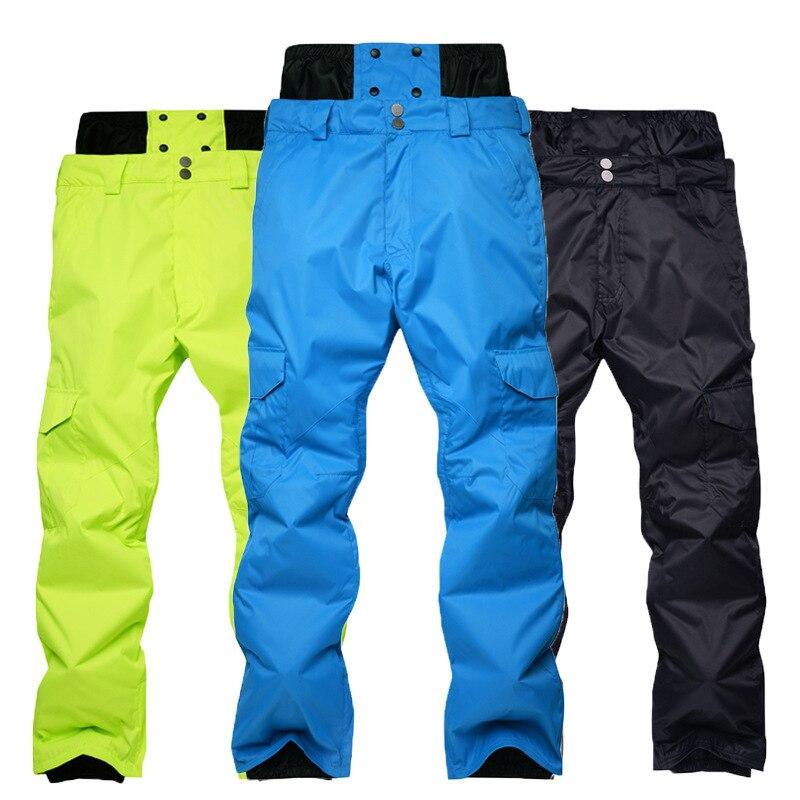 New Style Men Skiing Pants High Quality Windproof Waterproof Ski Pants Warm Winter Snow Snowboard Trousers