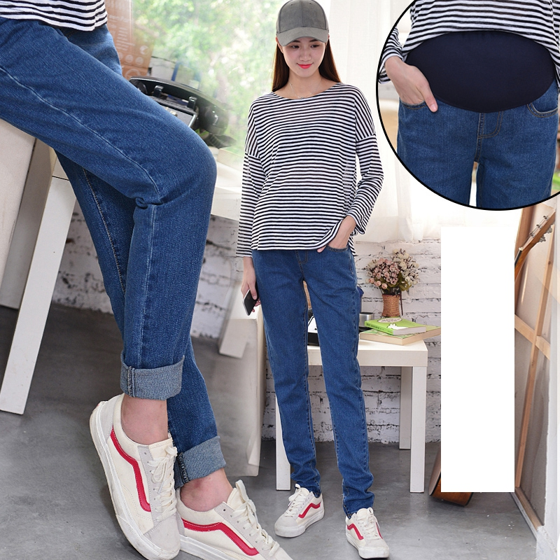 Fashion Pregnancy Pants For Spring Jeans Maternal Solid Color Cotton Maternity Jeans Belly Comfortable Maternity Fall Clothes Jeans Aliexpress