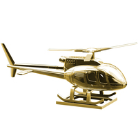 Aromatherapy Helicopter Car Ornament Interior Accessories Automotive Zinc Alloy Supplies Fragrance Solar Home Decoration Gifts