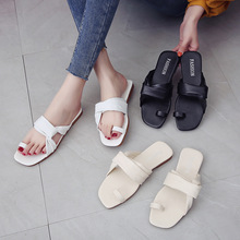 2019 Summer New PU Womens Slippers Student Girl Simple Style Sandals Shoes