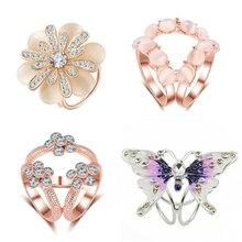 Nova moda tricíclico flor cristal cachecol titular clipe de broche de seda retro olho de gato pedra broches flor pinos jóias
