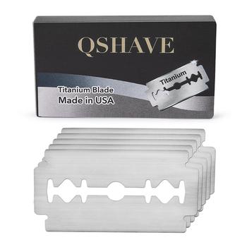 Qshave klasyczna żyletka prosta maszynka do golenia na żyletki o dwóch ostrzach ostrza z USA 20 ostrzy tanie i dobre opinie Razor blade DE BLADE Blade MADE IN USA RD242