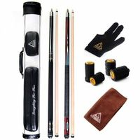 CUESOUL Free Shipping Combo Set of House Bar Pool Cue Sticks - 2 Cue Sticks Packed in 2x2 Hard Pool Cue Case