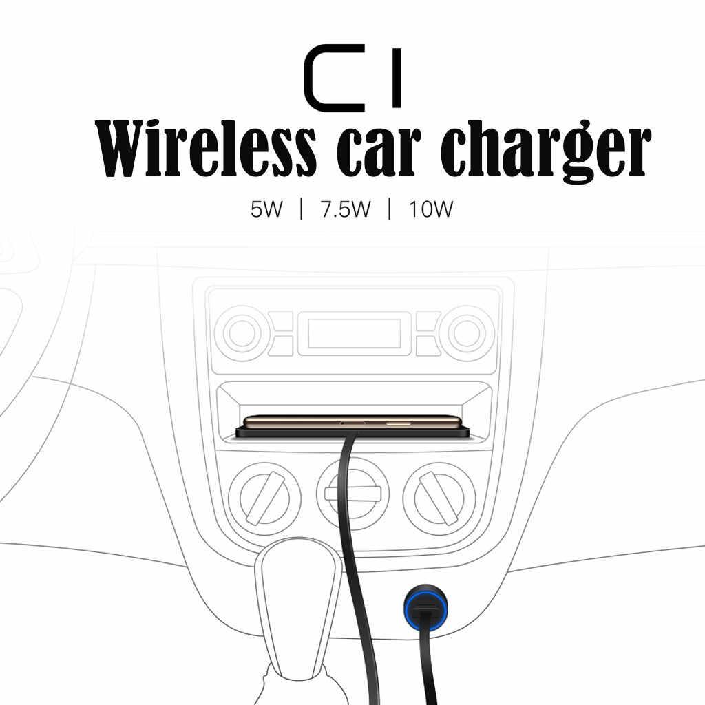 Chargeur sans fil CARPRIE 2in1 chargeur de voiture sans fil Silicone Pad téléphone support de tableau de bord avec support GPS chargeur rapide téléphone de Charge rapide