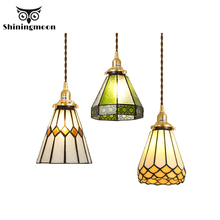 American Vintage Loft Pendant Lights Modern Art Colour Glass Lamp Vanity Kitchen Dining Rope Hanging Luminaria