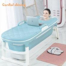 Cordial Shining — Baignoire à vapeur en plastique pour adulte 1,4 m, élément à couvercle repliable pour massage à la maison, livraison gratuite