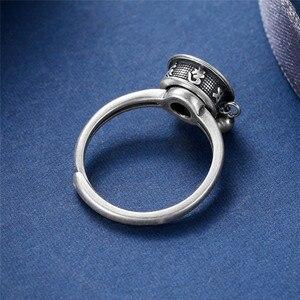 Image 5 - Женское кольцо из серебра 100% пробы, с мантрой