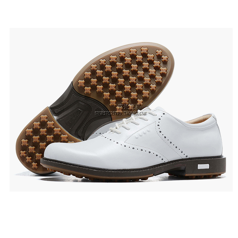 Genuine Leather Golf Boots Businessman Boat Shoes Men's Black Walking Sport Shoes Spikeless Golf Sneakers British Golf Training 1