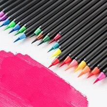 Набор фломастеры, мягкие пастельные ручки для рисования, наконечник, ручки для рисования, художественные принадлежности, водорастворимые пастели, Студенческая каллиграфия