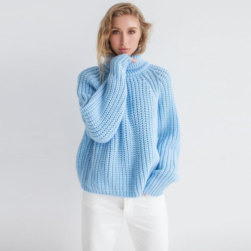 Winter Women Jumper Sweater Tide Loose Pullover Sweater Casual Turtleneck Women Clothes Sweater