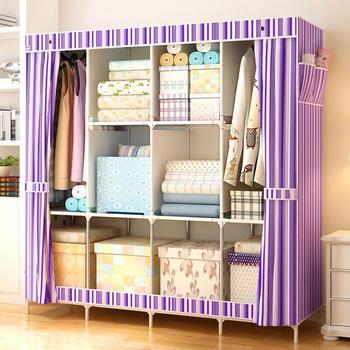 Super Large 60 Portable Wardrobe Family Dustproof Closet Cabinet Reinforced Rack with Shelves