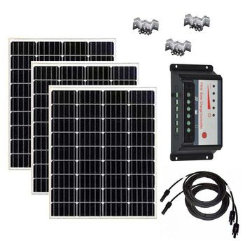 Solar Panel Kit Complete 100w 200w 300W 12V Battery  Charge Controller 12v/24v 30A Cavaran Car Camping Boat Phone RV