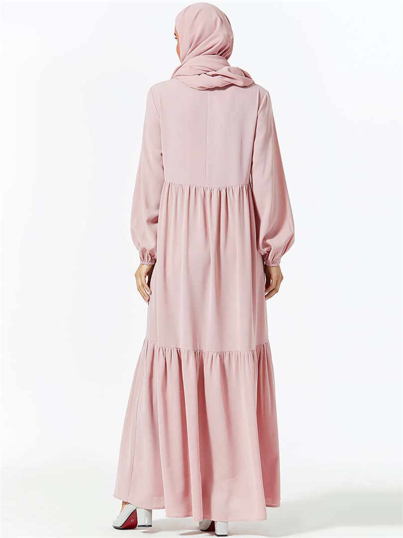 מזדמן מוסלמי רקמה העבאיה מקסי שמלת חיג 'אב ארוך Robe שמלות Vestidos קימונו Baju עיד הרמדאן ערבי האסלאמי קפטן Baju
