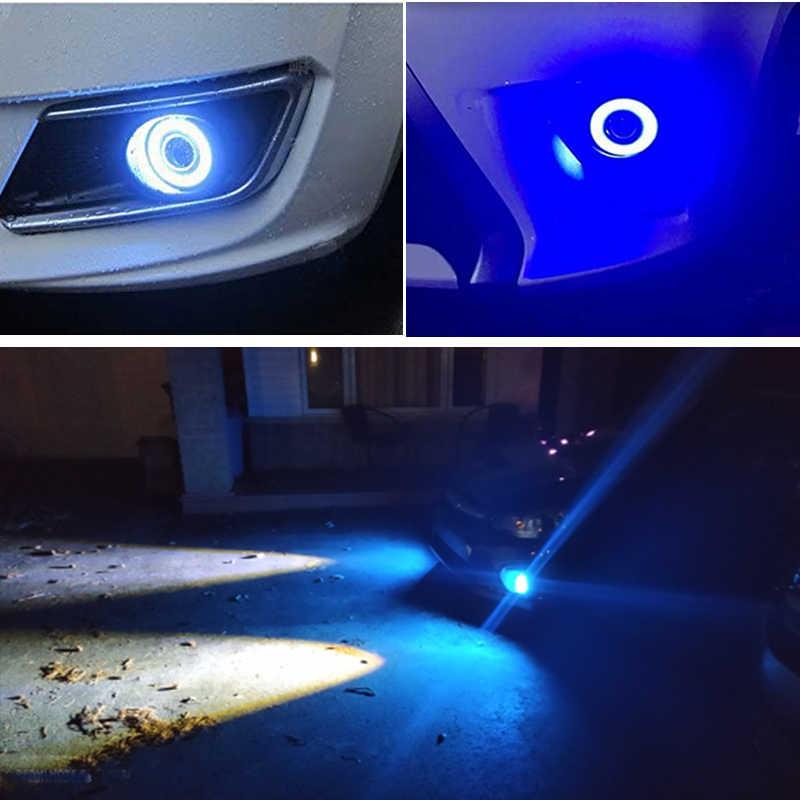 2 stücke Auto COB 1200LM 30W Licht FÜHRTE Nebel Licht Weiß Angel Eye DRL Fahren Projektor Signal Lampen Nebel lampen Auto Tuning Auto Lampe