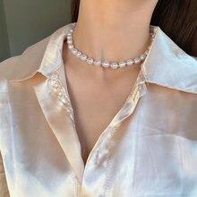 Модные ювелирные изделия ожерелье с белыми бусинами красивый