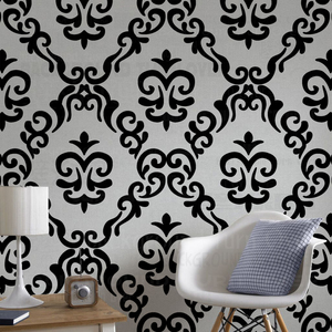 30 - 70 cm Stencil Paint Template For Walls Furniture Tile Flooring Damask Rococo Baroque Vintage Retro Painting Decoration S218