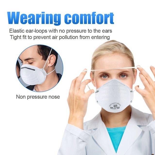 Anti-fog headband grade round FFP2 mask non-woven Dust Mask Anti PM2.5 Anti influenza Breathing Bicycle Rid Face Flu Face masks 2