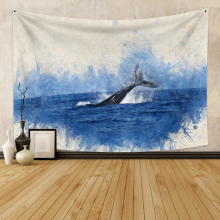 Wall Hanging Tapestry Whale Background Boho Decor Fabric Wall Tapestry Fabric Wall Carpet Dorm Decor for Bedroom Wall Home Decor feather fabric wall hanging home decor tapestry