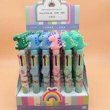 Roller Stationery Ball-Pens Writing-Supplies Gift Dinosaur Office School 8-Colors Cartoon