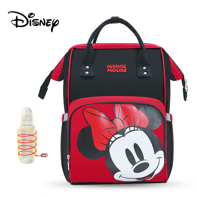Disney Diaper Bag Backpack Baby Bags for Mom USB Travel Wet Nappy Boy Girl Diaper Organizer Mickey Minnie USB Newborn Mouse