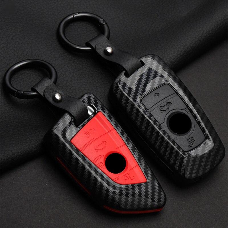Mode ABS de Voiture en fibre de Carbone de Couvercle de Boîtier De Télécommande Pour BMW 1 2 3 4 5 6 7 Série X1 X3 X4 X5 X6 F30 F34 F10 F07 F20 G30 F15 F16