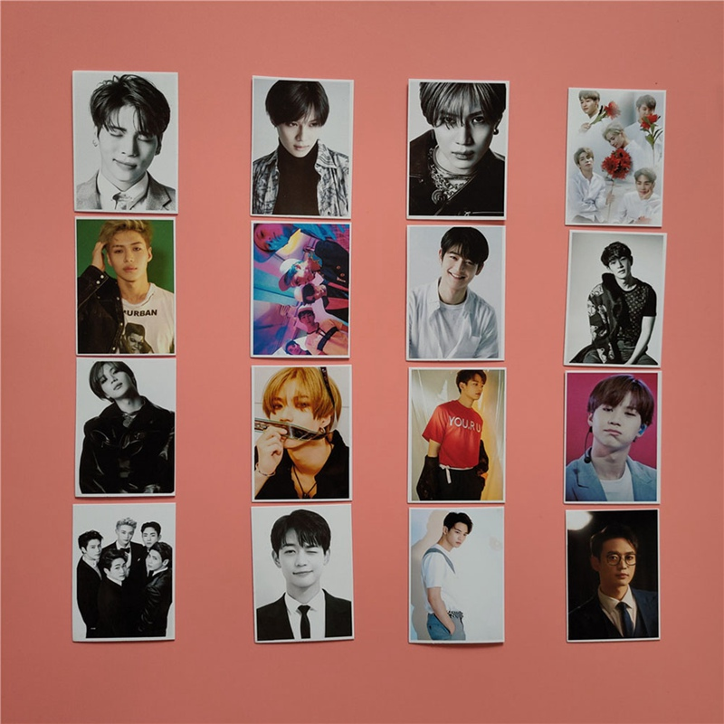16pcs/set KPOP SHINee Photo Card Self Made Paper Lomo Card Photo Card HD Photocard Fans Gift Collection