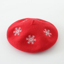 Original Wool Felt beret Christmas Snow Warmer Beret DIY Originality joker Hat Gift for women