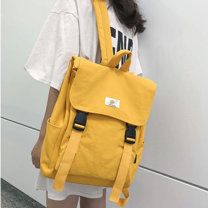 Waterproof Backpack Women Canvas School Bags Travel Bag for Teenage Girls Backpack Rucksack Ladies Sac A Dos Mochila Mujer 2020