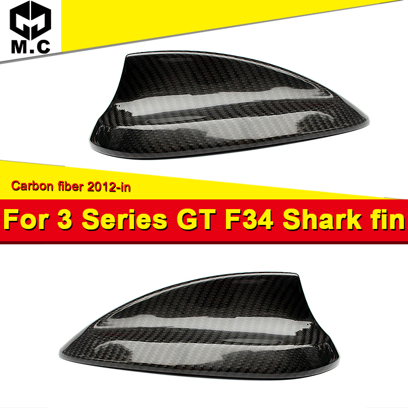 F34 Antenna Covers For BMW F34 GT 318i 320i 323i 235i 328d 330e Carbon Fiber Antenna Cover Shark Fin auto roof Antenna 2012 in in Aerials from Automobiles Motorcycles
