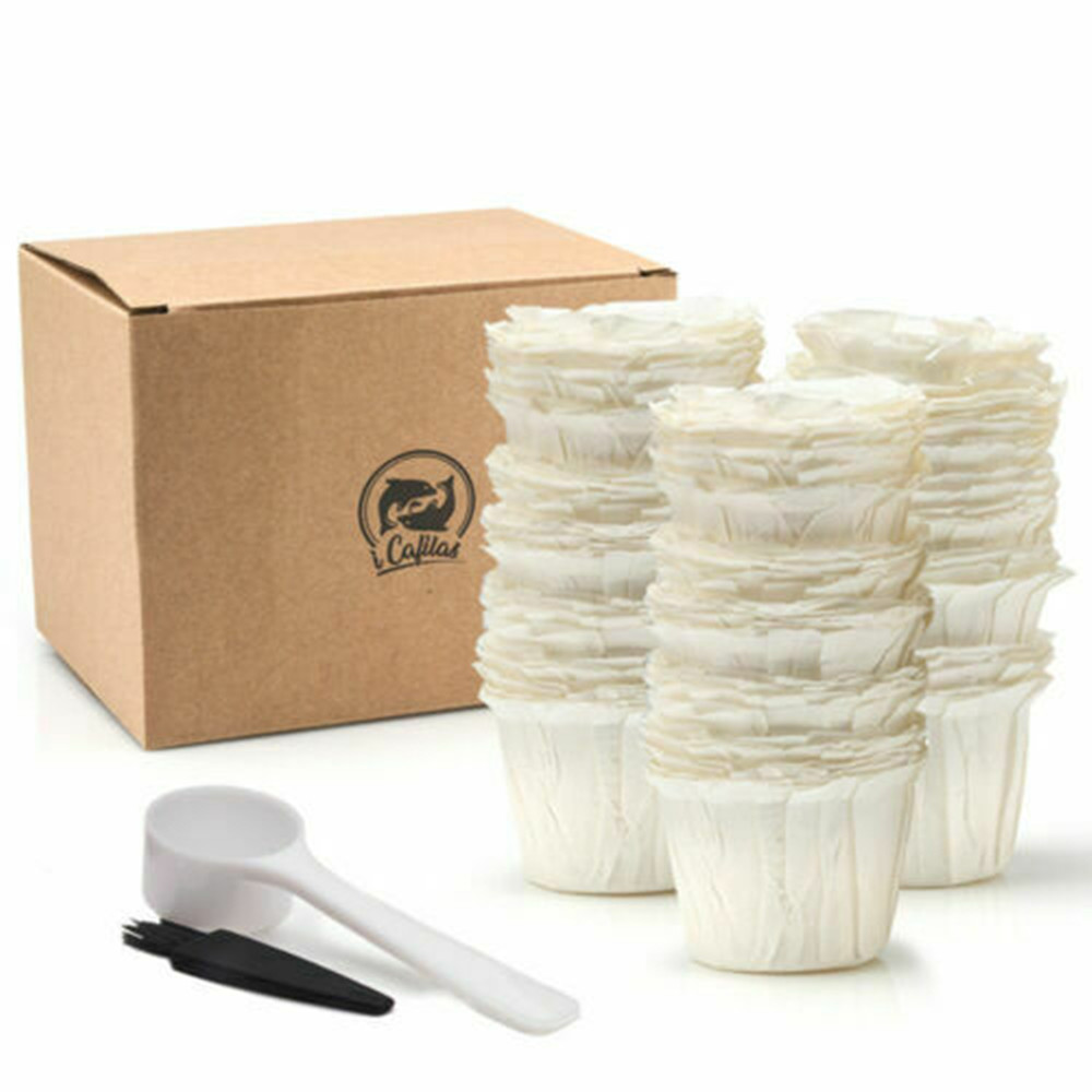 Disposable Paper Filters Cups K-Cup 2.0 & 1.0 Fit For Keurig Coffee Machine Refillable Coffee Capsule K Cup Baskets