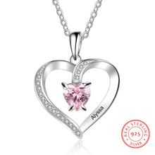 Personalize Necklace 925 Sterling Sliver Jewelry Heart Penda