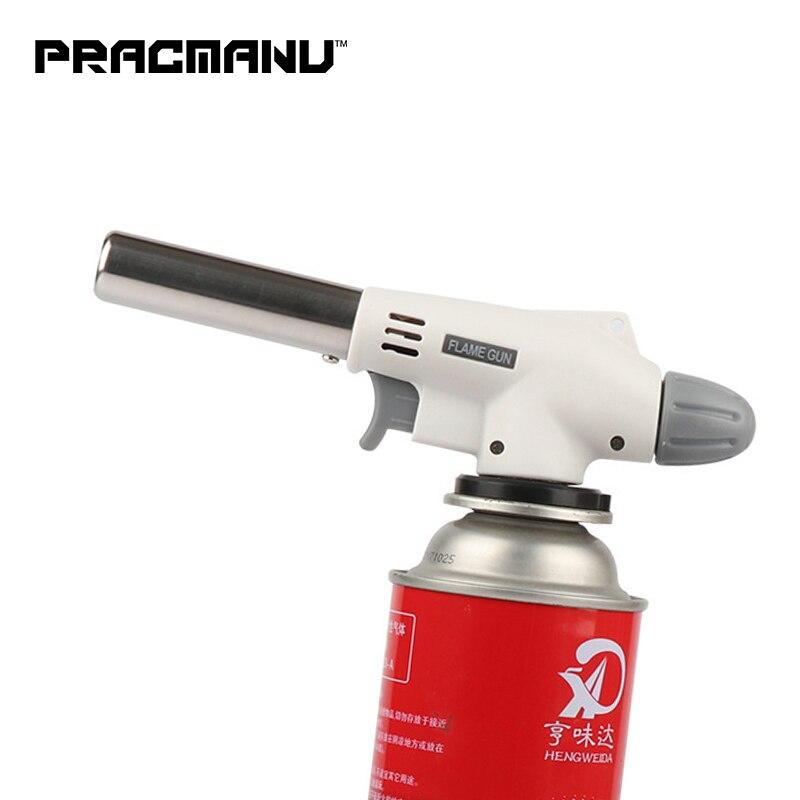 PRACMANU газовый фонарь, пистолет для пламени, фонарь для приготовления пищи, пайка, Бутан, автозажигание, газовая горелка, зажигалка, нагрев