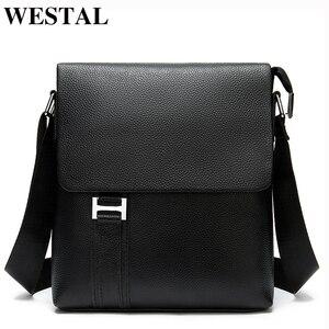 WESTAL Name Laser мужская сумка через плечо из натуральной кожи, сумки через плечо для мужчин, черная сумка-мессенджер, кожаная мужская сумка через ...