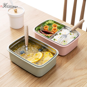 OYOURLIFE Eco Friendly Stainless Steel Bento Lunch Box Portable Food Warmer Outdoor School Office Tiffin Box Microondas Lunchbox